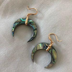 Abalone Horn Earrings